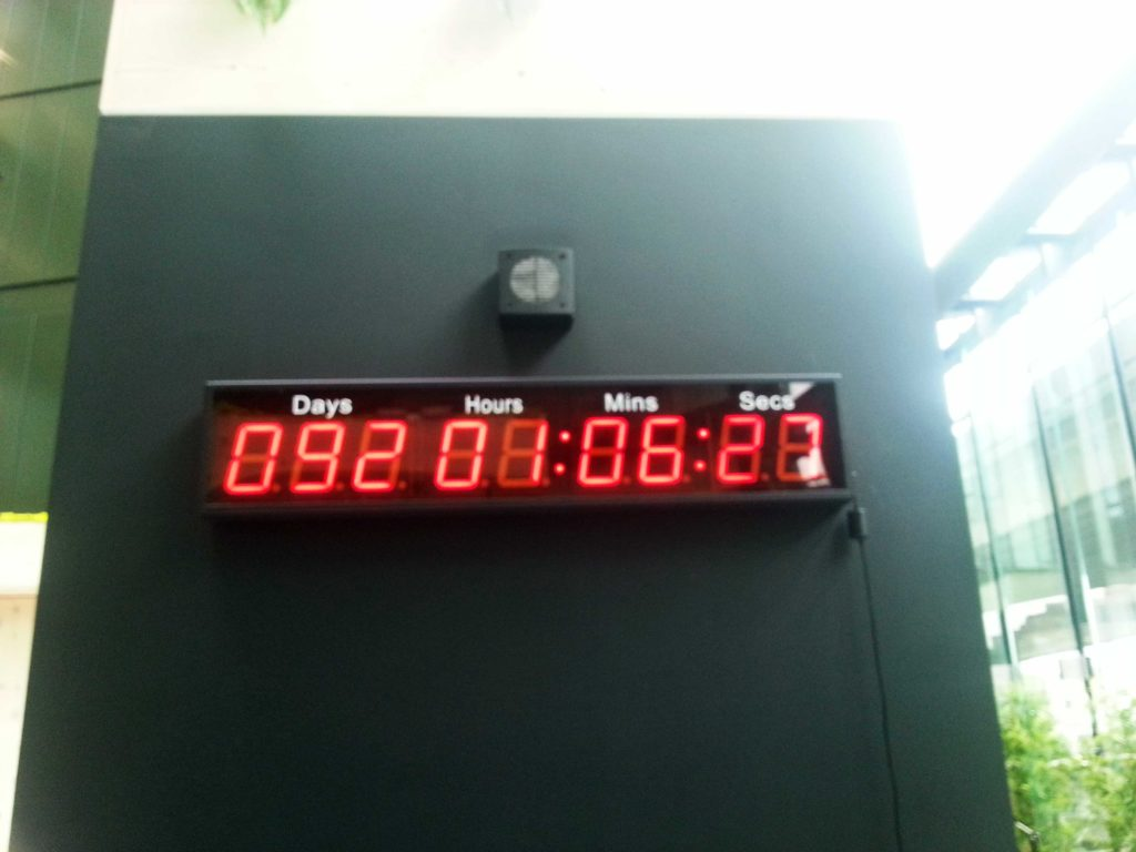 Techstars countdown timer